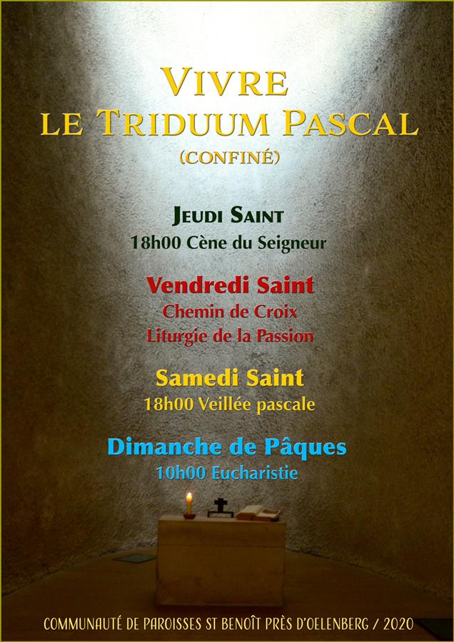 Triduum Pascal 2020 - CP St Benoît près d'Oelenberg