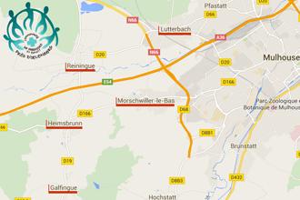 Situer la CP St Benoît près d'Œlenberg sur la carte