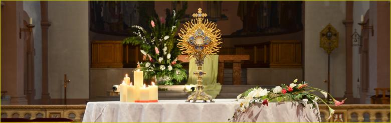L'adoration du Saint Sacrement à Lutterbach