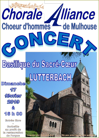 Concert du chœur d'Hommes « Alliance »